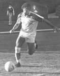 Jon Stewart playing soccer many years ago.