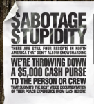 Sabotage Stupidity is the name of Burton's campaign